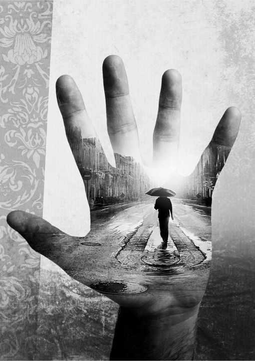 """Digital Arts titled """"The Path"""" by Teodor Tapu, Original Art, Photo Montage"""