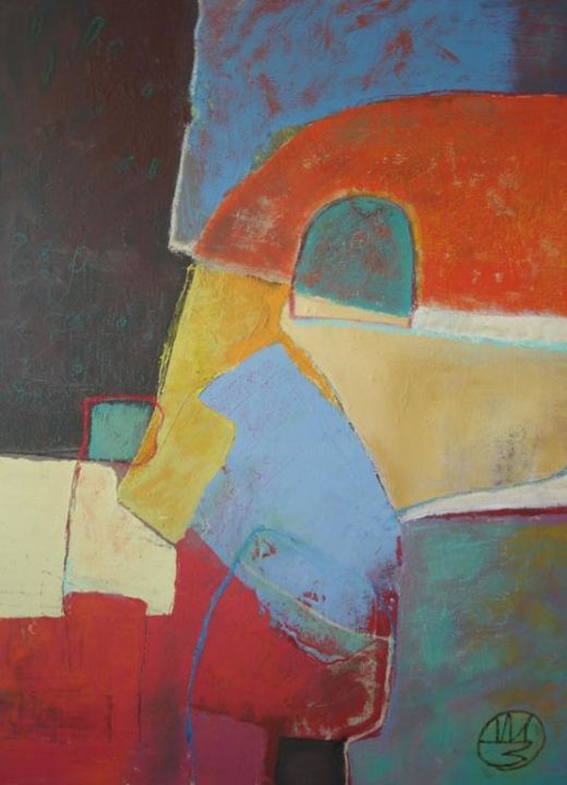 """Painting titled """"ABSTRACT 21"""" by Teofana Zaric, Original Art, Oil"""