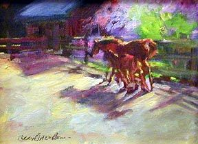 """Painting titled """"Together In Spring"""" by Don Bourret, Original Art, Oil"""