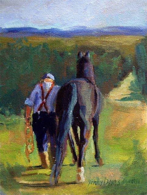 """Painting titled """"Miles to Go"""" by Don Bourret, Original Art, Oil"""