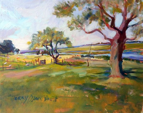 Cobb's Cove - Painting,  16x20 cm ©2012 by Terry Oakes Bourret -