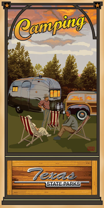 Camping Texas State Parks Digital Arts by Jim Sanders | Artmajeur