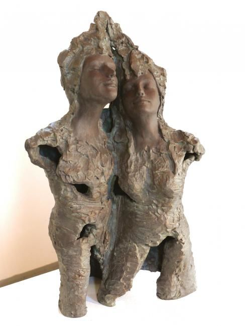 Happy 2 - Sculpture,  20x35 cm ©2008 by Judith Franken -