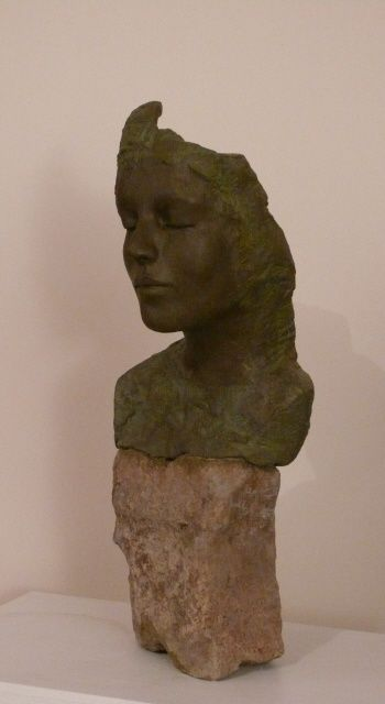 visage sur pierre1 - Sculpture ©2009 by Judith Franken -