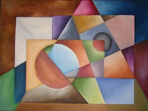 """Painting titled """"GEO"""" by Arts Unlimited, Original Art, Oil"""