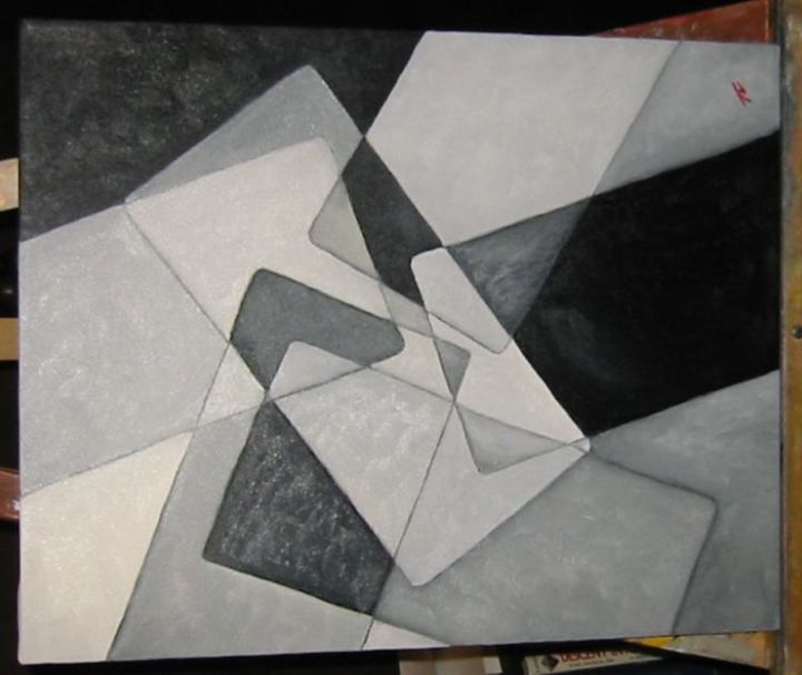 """Painting titled """"Black and White"""" by Arts Unlimited, Original Art,"""