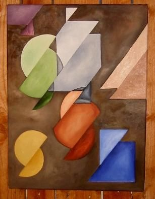 """Painting titled """"Slipped"""" by Arts Unlimited, Original Art,"""