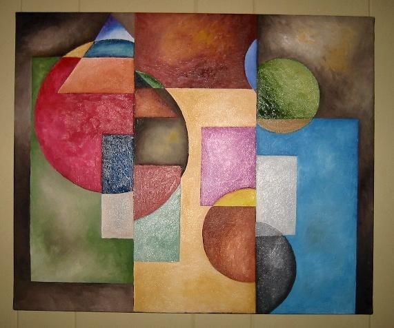"""Painting titled """"Shapes"""" by Arts Unlimited, Original Art,"""