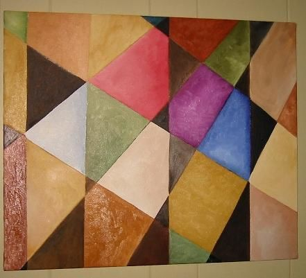 """Painting titled """"angles"""" by Arts Unlimited, Original Art,"""