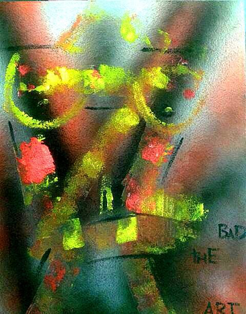 """Painting titled """"thebad3"""" by The Bad Art, Original Art, Acrylic"""