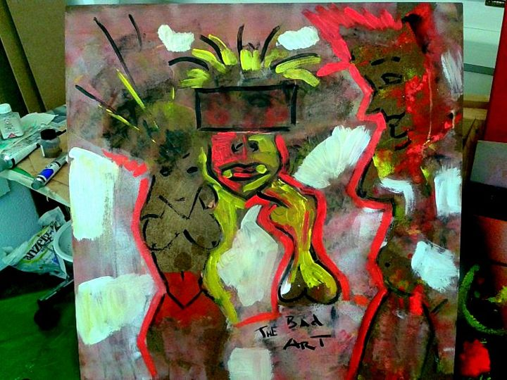 """Painting titled """"thebad4"""" by The Bad Art, Original Art, Acrylic"""