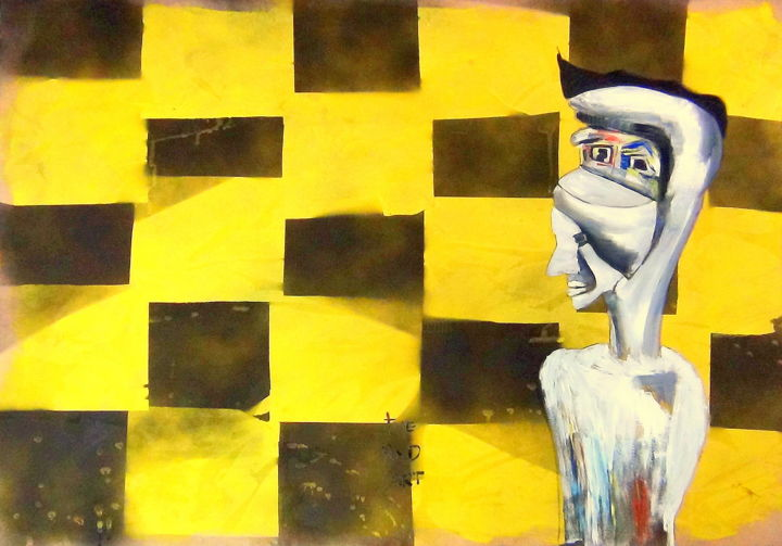 """Painting titled """"thebadbad"""" by The Bad Art, Original Art, Oil"""