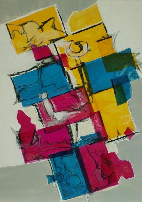 sterne et son nid - Painting,  50x70 cm ©2009 by thea -