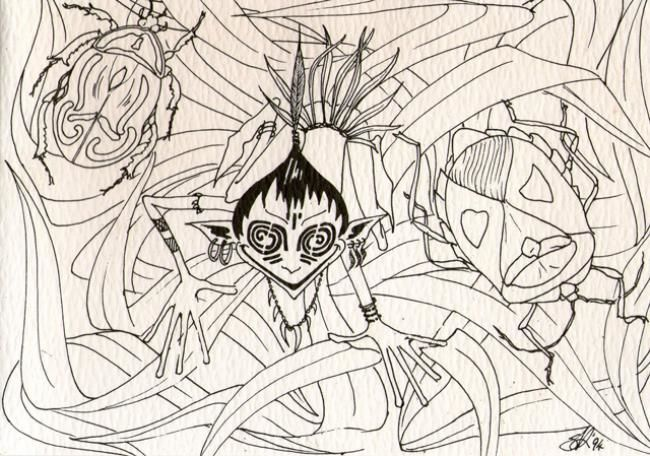 """Drawing titled """"At the bottom of th…"""" by Gifts From The House Of Whimsy, Original Art, Other"""