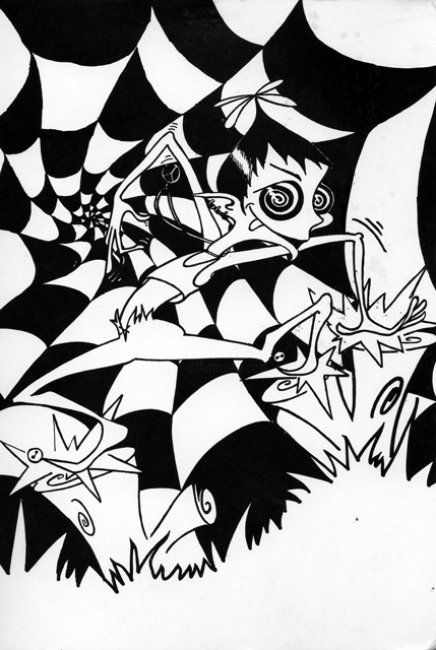 """Drawing titled """"the Acid Pixi"""" by Gifts From The House Of Whimsy, Original Art,"""