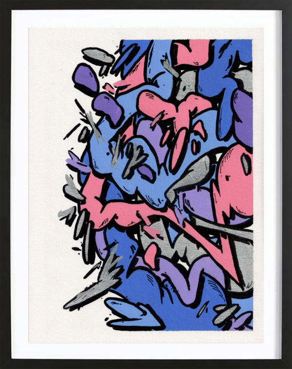 """Painting titled """"ÉCLECTISME GRAPHIQU…"""" by Mad Rats, Original Art, Acrylic"""
