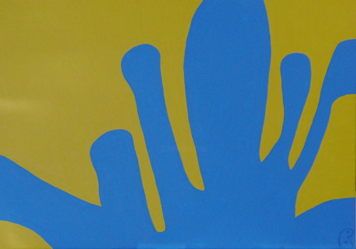 Ukraine - Painting,  0.8x27.6x39.4 in, ©2014 by Jan Theuninck -                                                                                                                                                                                                                                                                                                              Abstract, abstract-570, democracy, Ukraine, Theuninck, growth