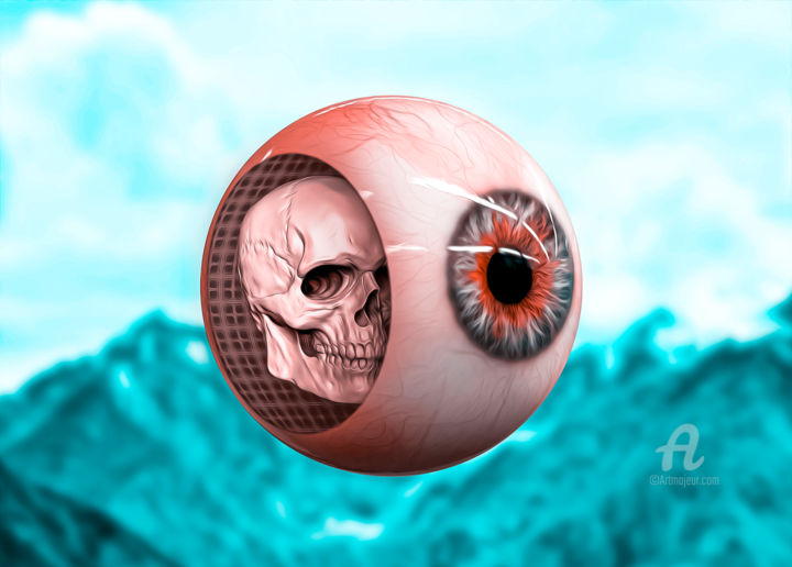 """Digital Arts titled """"In the eyes of the…"""" by Thiago Pixels, Original Art, Photo Montage"""