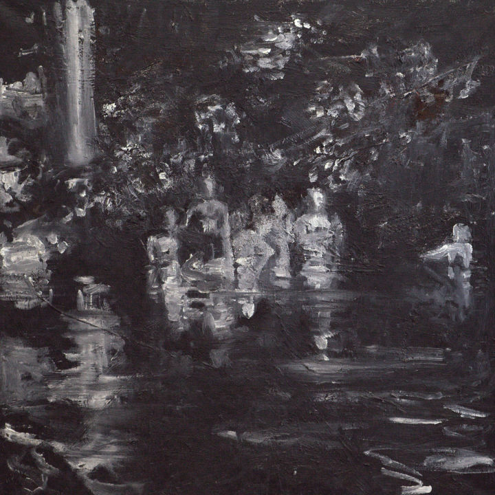 """Painting titled """"Âmes"""" by Thierry Chavenon, Original Art, Oil"""