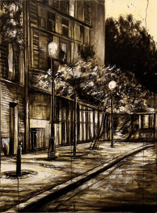montmartre-a1.jpg - Painting ©2014 by Thierry Sellem -