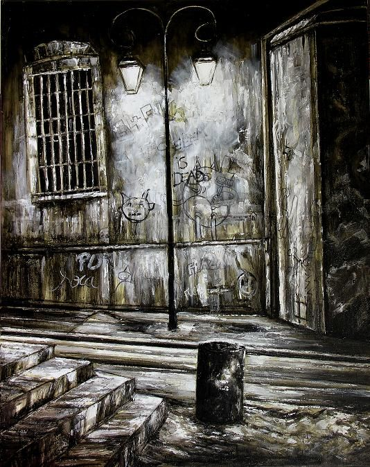 rue-de-la-prison-a1.jpg - Painting ©2014 by Thierry Sellem -