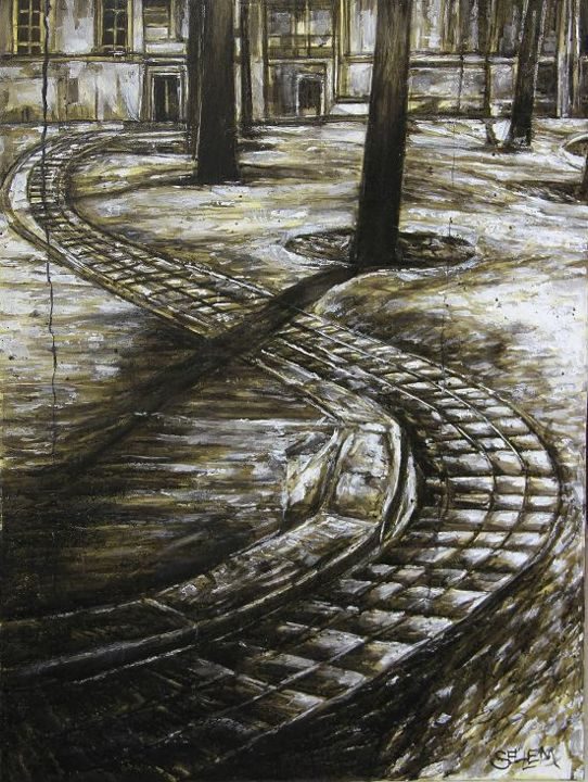place-a-paris-a1.jpg - Painting ©2014 by Thierry Sellem -