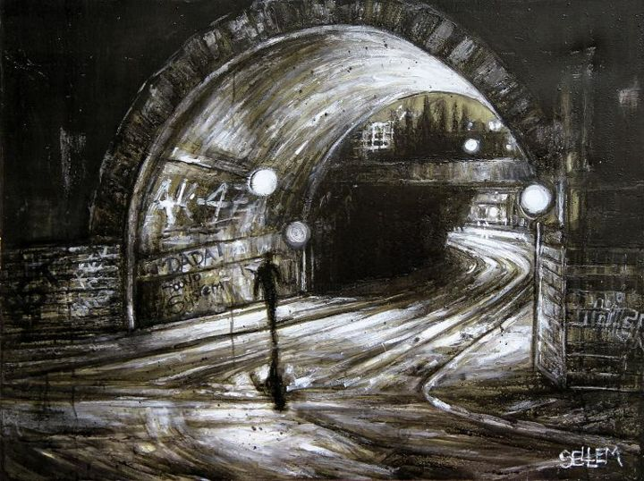 le-tunnel-ferroviaire-n2-a1.jpg - Painting ©2014 by Thierry Sellem -