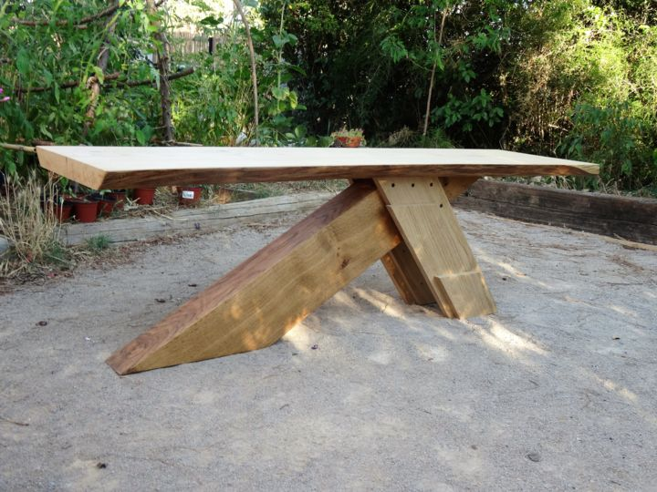 Table Basse Rustique En Bois Massif Artisanat Par Thomas Chatain