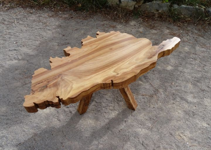 Table basse corse orme massif thomas chatain - Proteger une table en bois brut ...