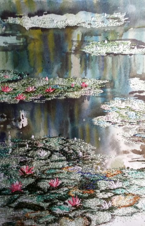 Wondrous - ©  Waterlilies, Monet's lake Online Artworks
