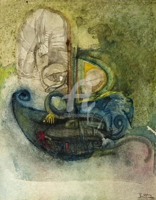 """Painting titled """"Sickness"""" by Thushara A., Original Art, Oil"""