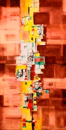 """Painting titled """"Crosses of life"""" by Thushara A., Original Art, Oil"""