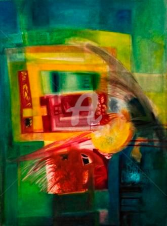 """Painting titled """"OBSTRUCTED CONCENTR…"""" by Thushara A., Original Art, Oil"""