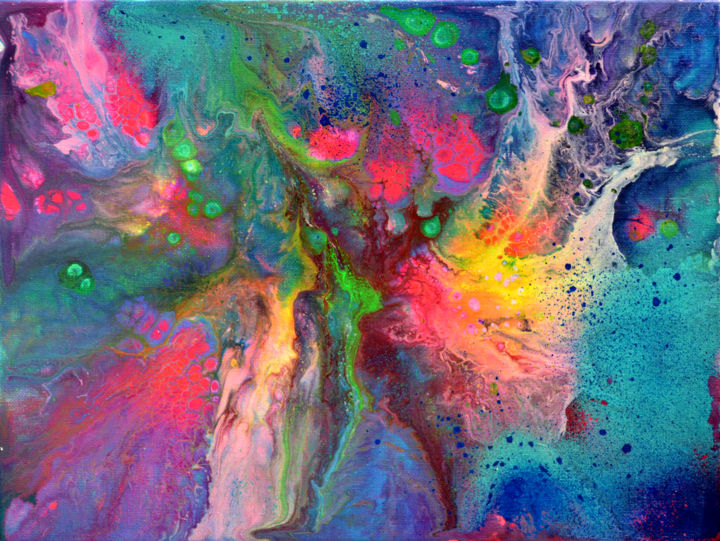 Small Abstract 9 - Abstract Fluid Painting Painting by