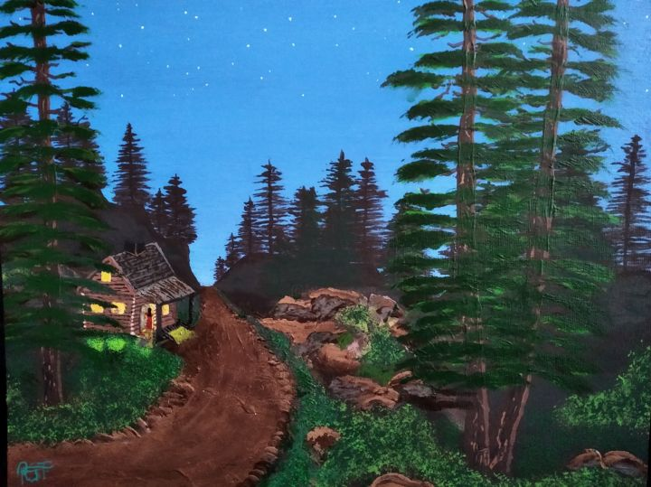 """Painting titled """"Arriving home"""" by Tibor Probst, Original Art, Acrylic"""