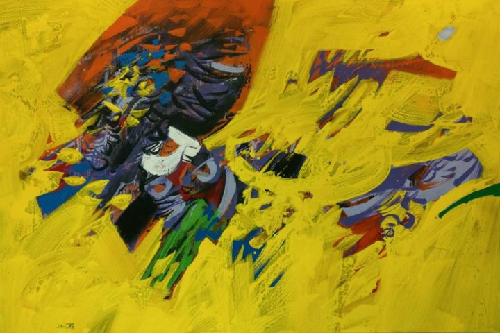 """Painting titled """"Tihomir LONCAR"""" by Tihomir Loncar, Original Art, Acrylic Mounted on Stretcher frame"""