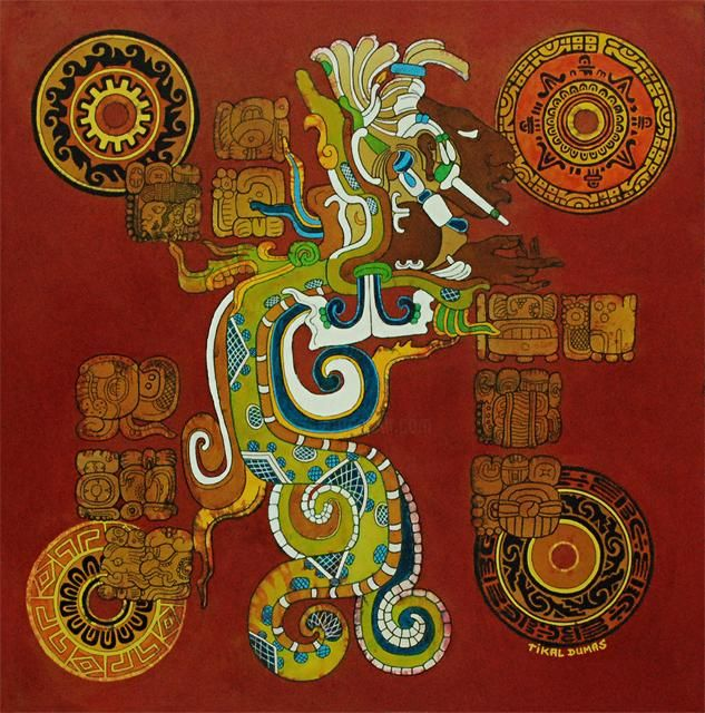 """Painting titled """"Vision Serpent"""" by Tikal, Original Art, Other"""
