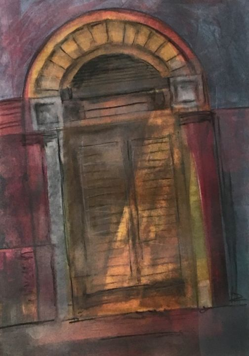 """Painting titled """"Doorway to Balad"""" by Timothy Malone, Original Art, Acrylic"""