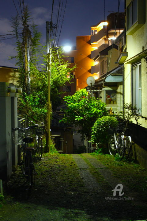 Tokyo backstreets at night. - Photography ©2017 by Tina Lane -                                                                Architecture, Asia, Cities, Home, Japan, Tokyo, Nihon