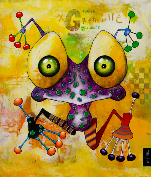 """Painting titled """"Petite Grenouille V…"""" by Toma, Original Art, Acrylic"""