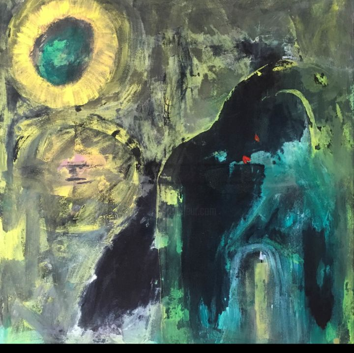 """Painting titled """"Sunflower and Young…"""" by Tom Douglas, Original Art, Acrylic"""