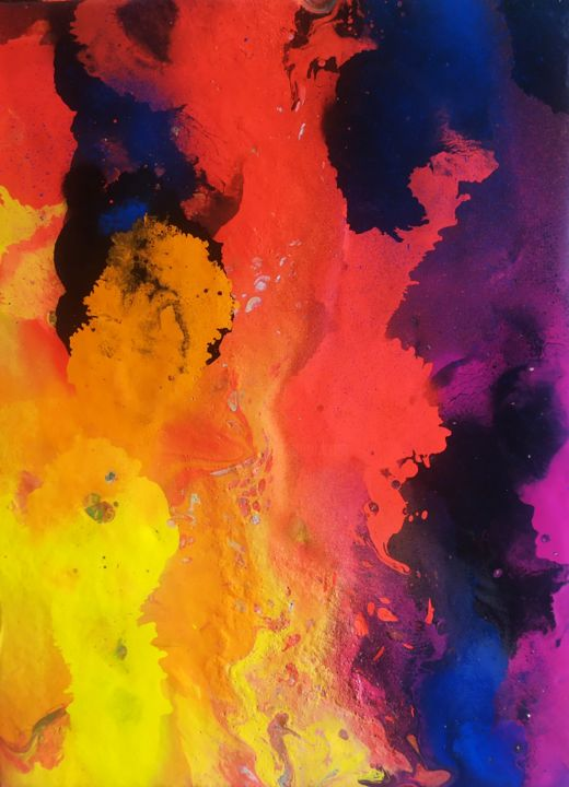 """Painting titled """"2of 3"""" by Tomáš Backa, Original Art, Spray paint"""