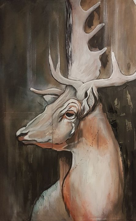 """Painting titled """"In the silence is p…"""" by Ton Mes, Original Art, Acrylic"""