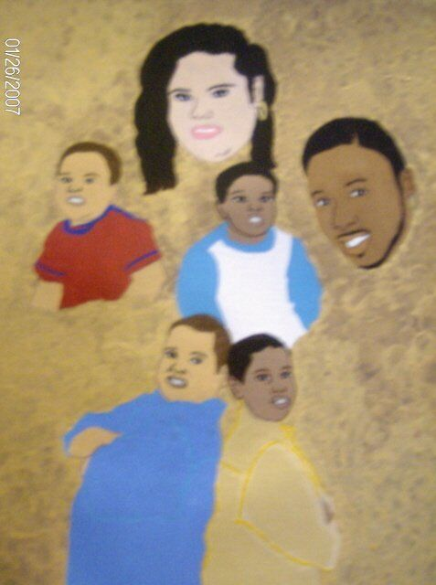 The Palmer Family - Painting,  12x16 in ©2007 by Tonjua Lyles -            acrylic paintings
