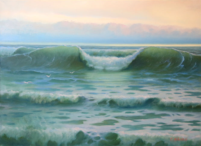 """Painting titled """"The Wave"""" by Tony Mäkinen, Original Art,"""