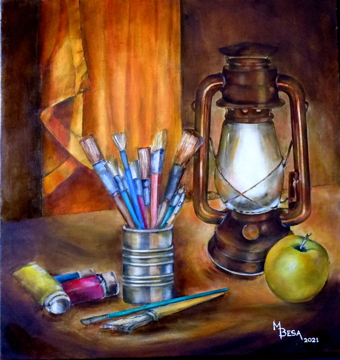 """Painting titled """"Done for the Day"""" by Miriam Besa, Original Art, Oil"""
