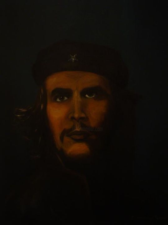 che - Painting,  18x24 in ©2006 by Geovany Torres -