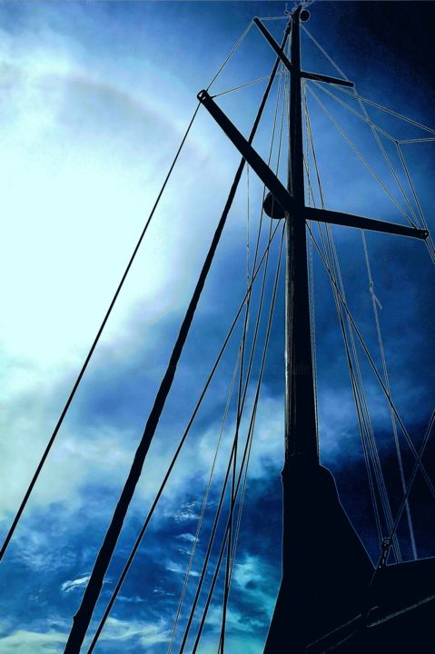 Boat - Digital Arts, ©2019 by Michèle Tortissier -                                                                                                                                                                          Abstract, abstract-570, Sailboat