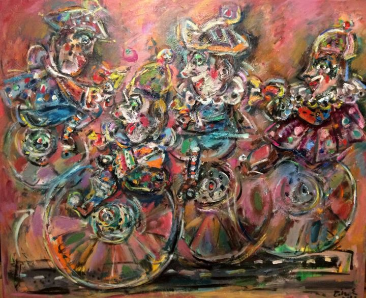 """Painting titled """"Fore and aft / Avan…"""" by Erno Toth, Original Art, Oil"""