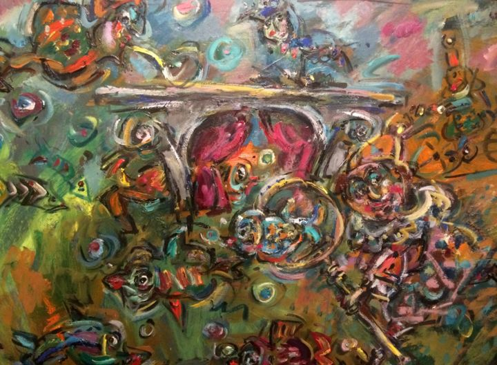 """Painting titled """"Door of the dream /…"""" by Erno Toth, Original Art, Oil"""